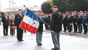 13 septembre 2014 : la section reçoit son nouveau drapeau